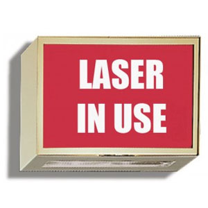 Laser-in-Use-Sign