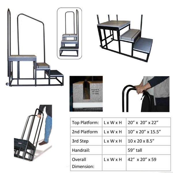 3 Step Tall Weight Bearing Stand New Improved Top